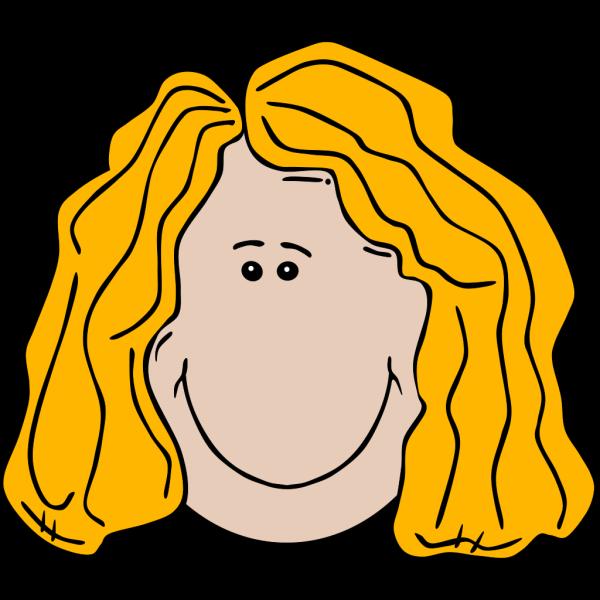 Lady Face Cartoon PNG Clip art