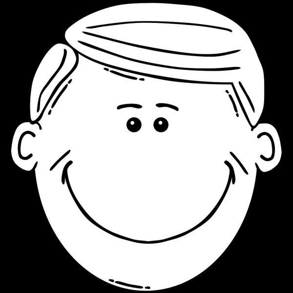 Man Face World Label Outline 2 PNG Clip art