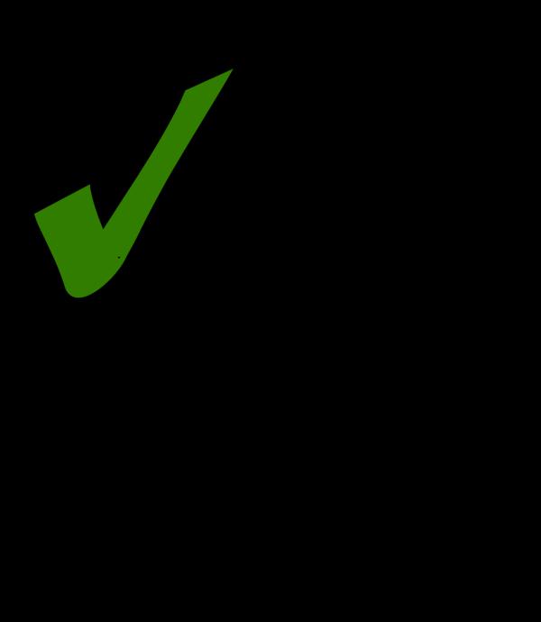 Green Tick PNG Clip art