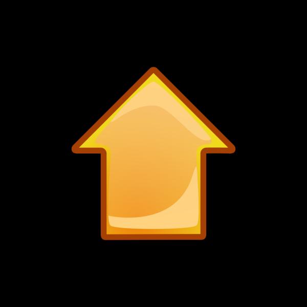 Arrow Orange Up PNG Clip art