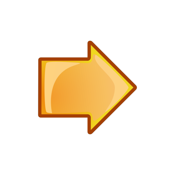 Arrow Orange Right PNG Clip art