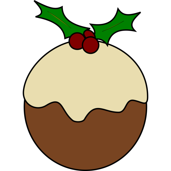 Karderio Christmas Pudding PNG Clip art