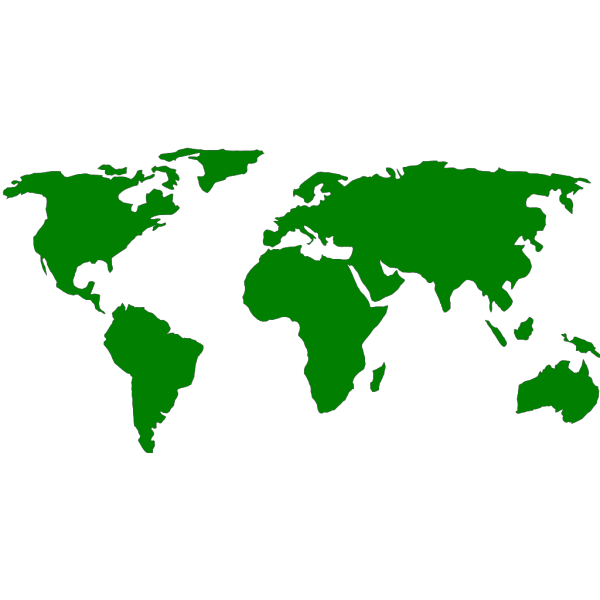 Jonadab Earth With Continents Separated PNG Clip art