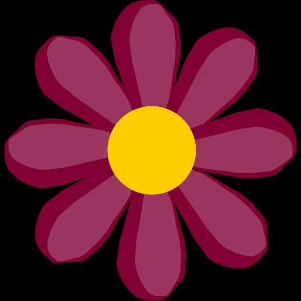 Purple Flower 4 PNG Clip art