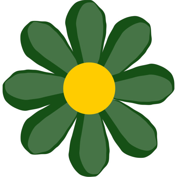 Green Flower PNG icons
