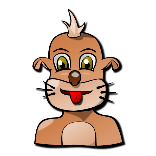 Dog Face Cartoon PNG Clip art