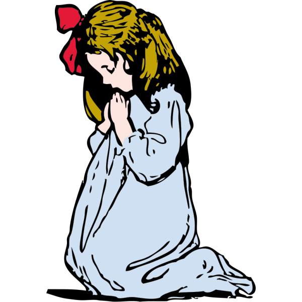 Girl Praying PNG Clip art