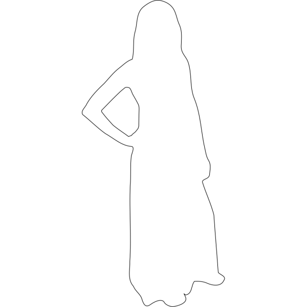 Walking Woman Outline PNG Clip art