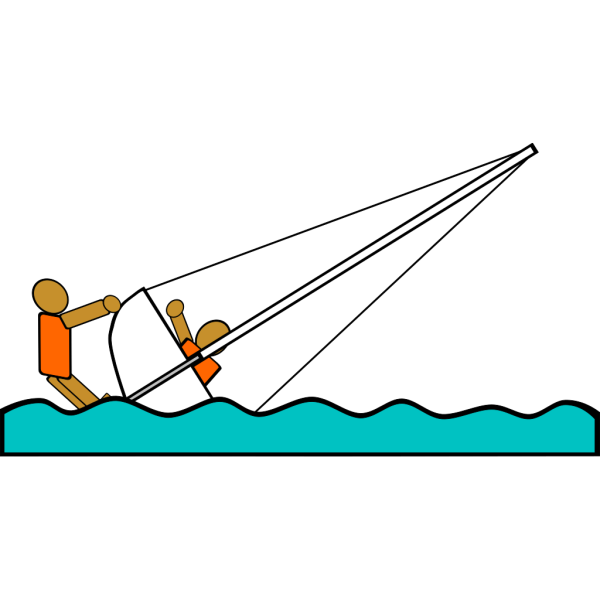 Sailing Capsized Rescue Illustrations PNG images