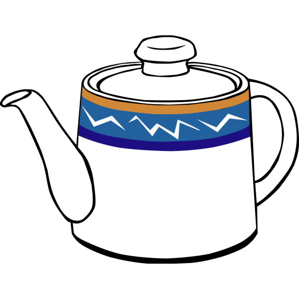 Porclain Tea Kettle PNG images