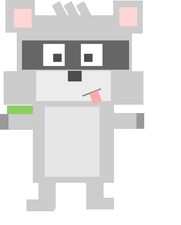 Raccoon Opening Box PNG Clip art