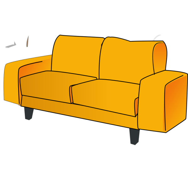 Soft Blue Couch PNG images