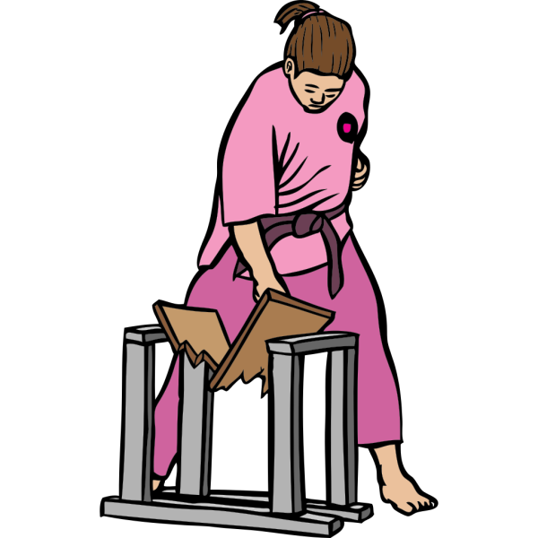 Karate Breaks Board PNG Clip art