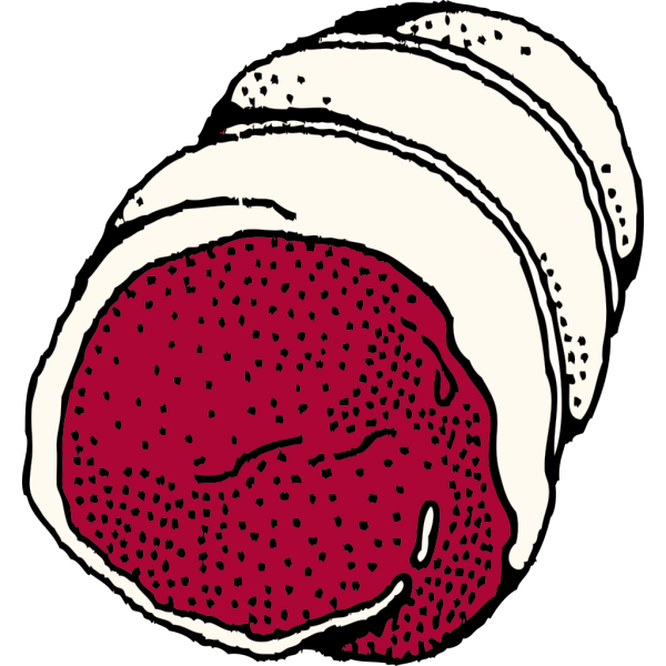 Rolled Roast PNG Clip art