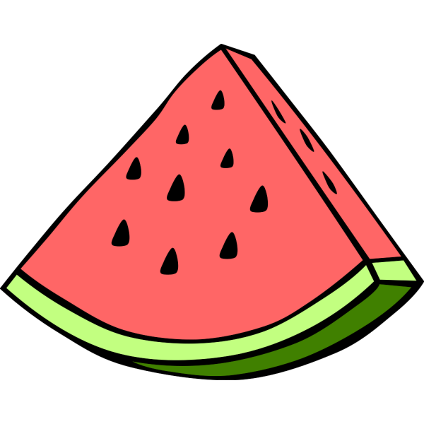Piece Of Water Mellon PNG Clip art