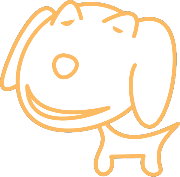Dog Simple Drawing PNG icon