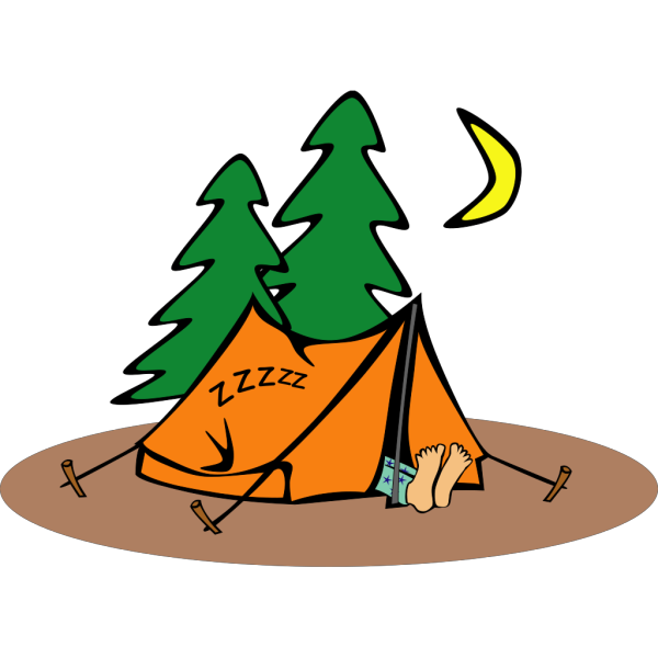 Sleeping In A Tent PNG Clip art