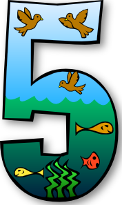 Creation Days Numbers 5 PNG Clip art