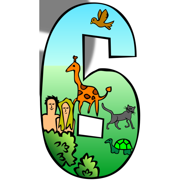 Creation Days Numbers 6 PNG Clip art