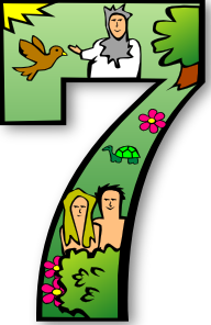 Creation Days Numbers 7 PNG Clip art