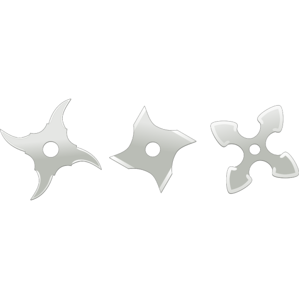 Ninja Throwing Stars Weapons PNG Clip art