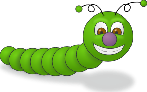 Green Worm PNG icons
