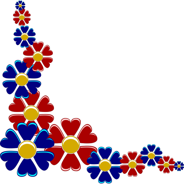 Yuri Flower Corner PNG Clip art