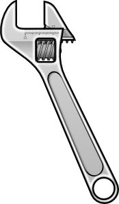 Method Adjustable Wrench Icon Style PNG Clip art