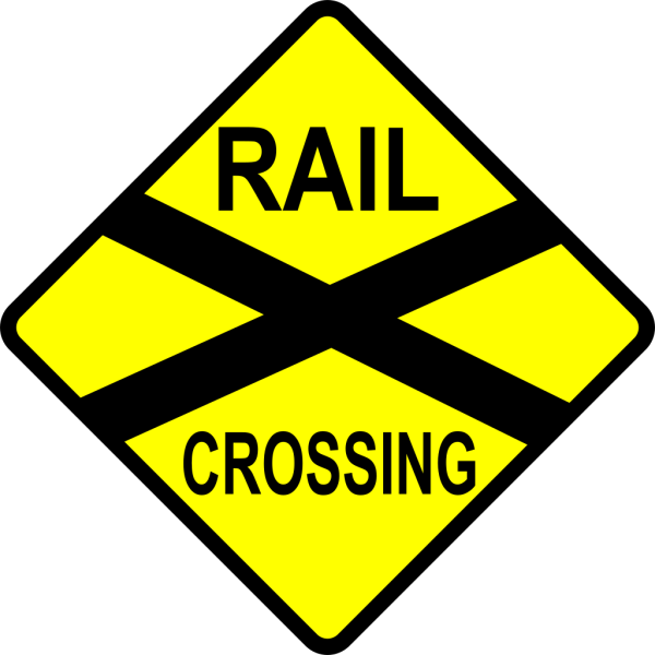 Caution Railroad Crossing PNG images