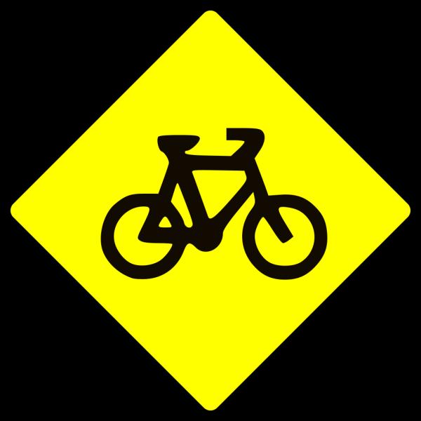 Caution Bike Road Sign Symbol PNG Clip art