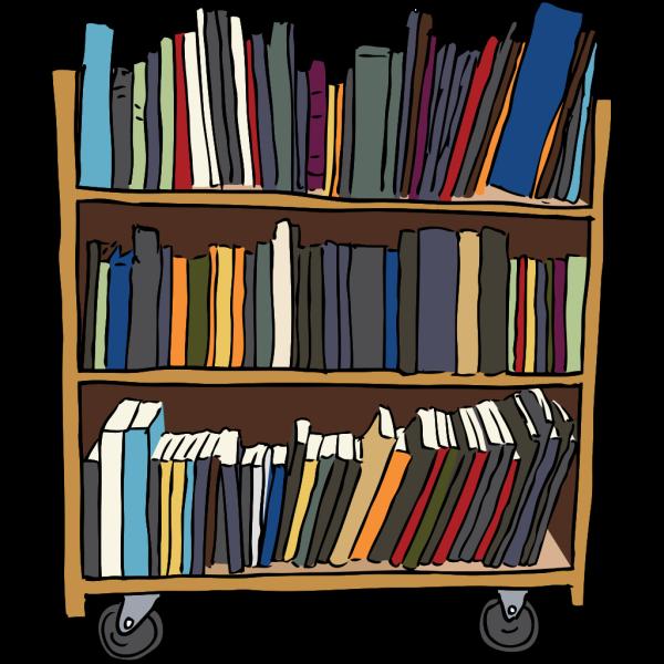 Library Book Cart PNG Clip art