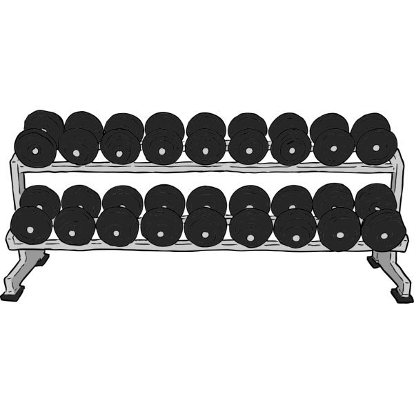 Dumbbell Rack PNG images