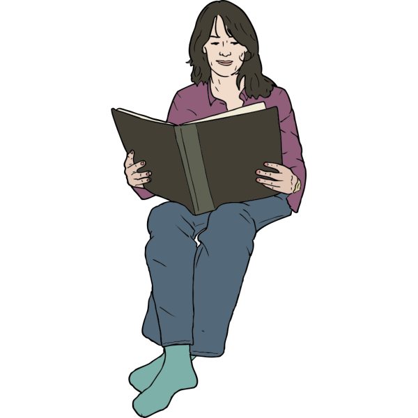 Lady Woman Reading PNG clipart