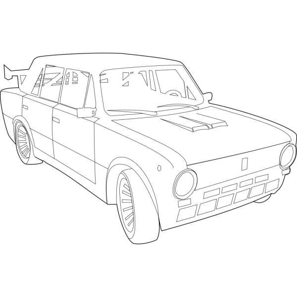 Car Lada Outline Png Svg Clip Art For Web Download Clip Art Png Icon Arts