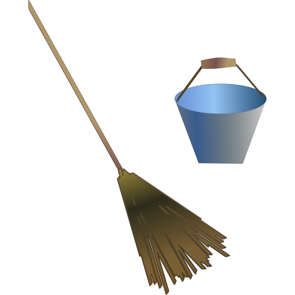Broom Bucket PNG Clip art