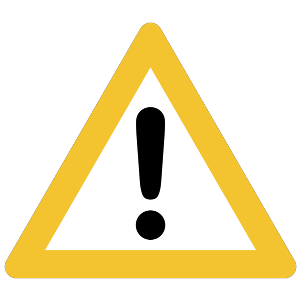 Warning Sign Orange Rounded PNG Clip art