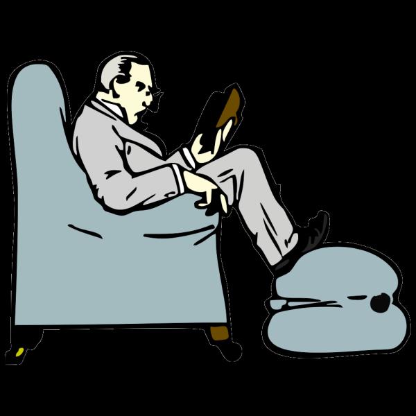Skinny Man Reading PNG Clip art