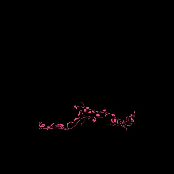 Pink Bird Silhouette PNG Clip art
