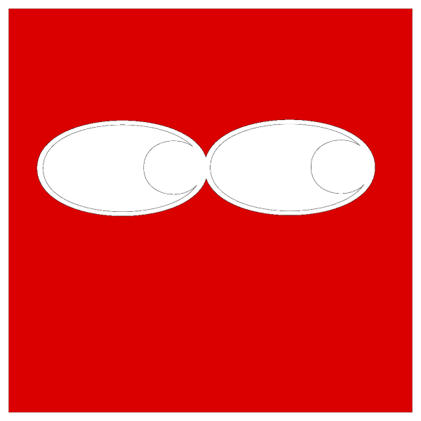 Red Square Eyes Looking Right PNG Clip art