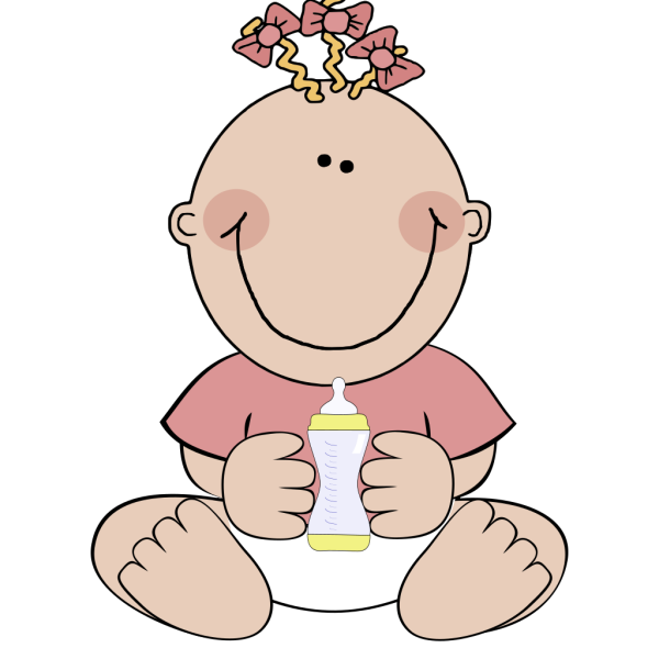 Baby Girl Sitting PNG Clip art