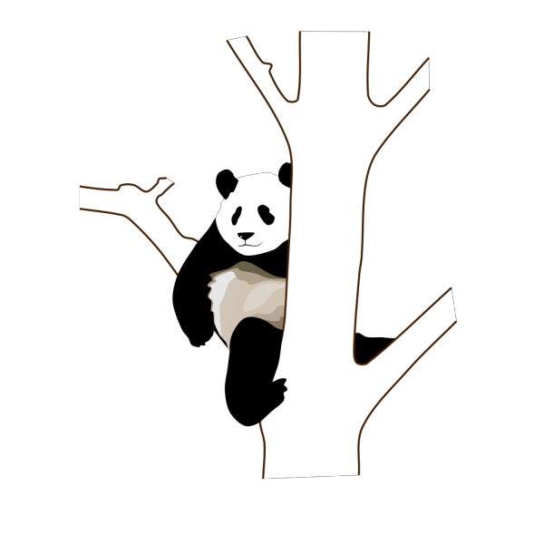 Panda On A Tree PNG Clip art