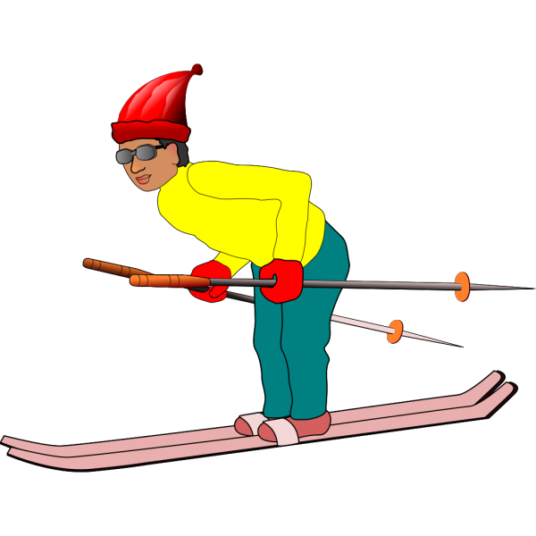 Ski Man PNG Clip art
