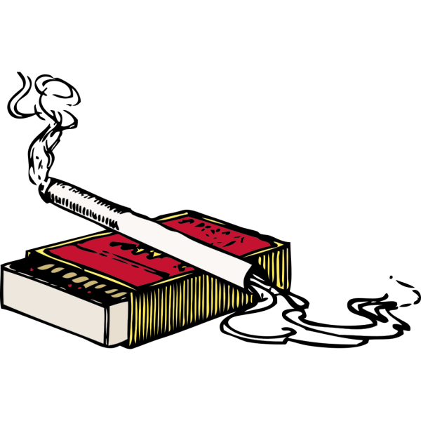 Cigarette And Matchbox PNG Clip art
