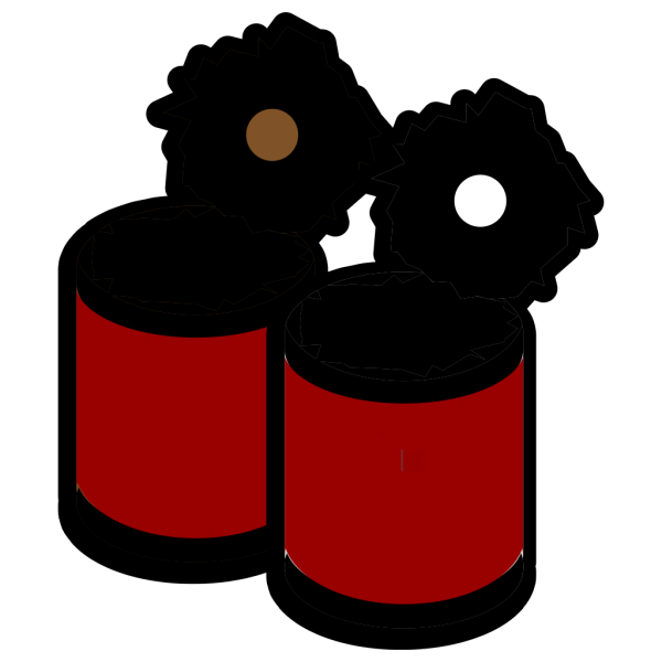 Two Open Cans PNG Clip art