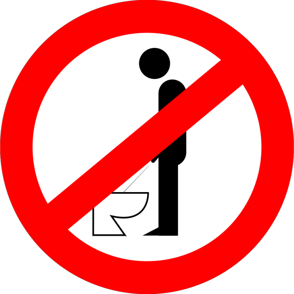 Urinating While Standing Is Forbidden PNG Clip art
