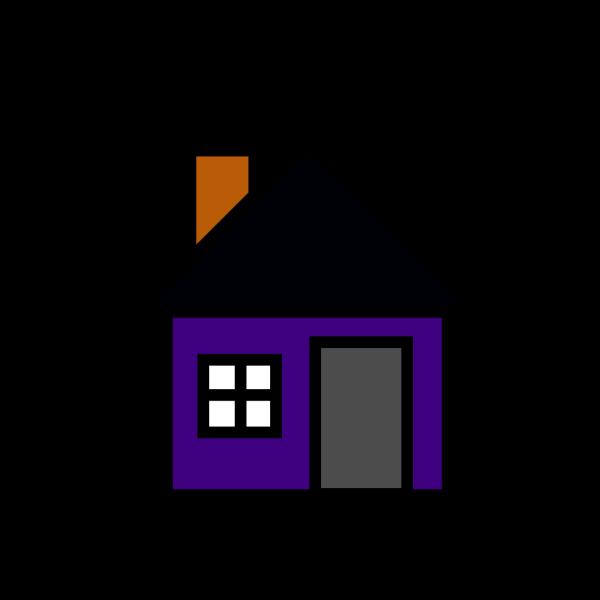 Bigredsmile A Little Purple House PNG Clip art