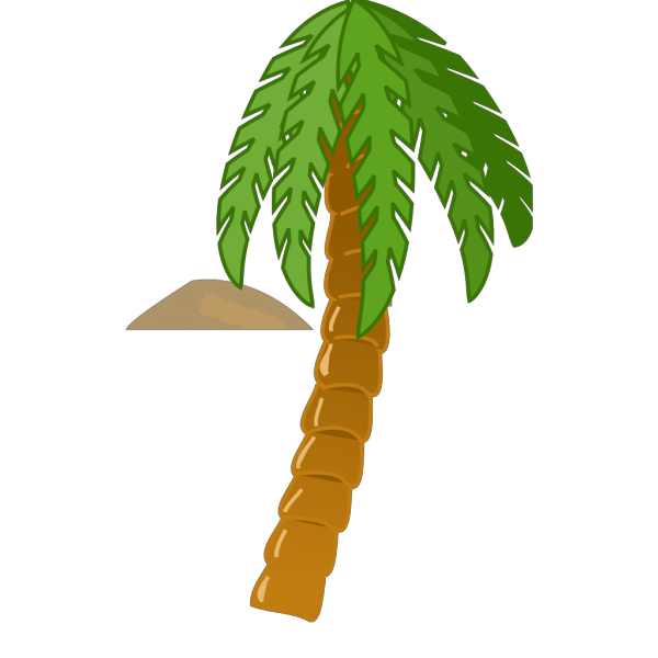 Island Palm Tree Water PNG Clip art