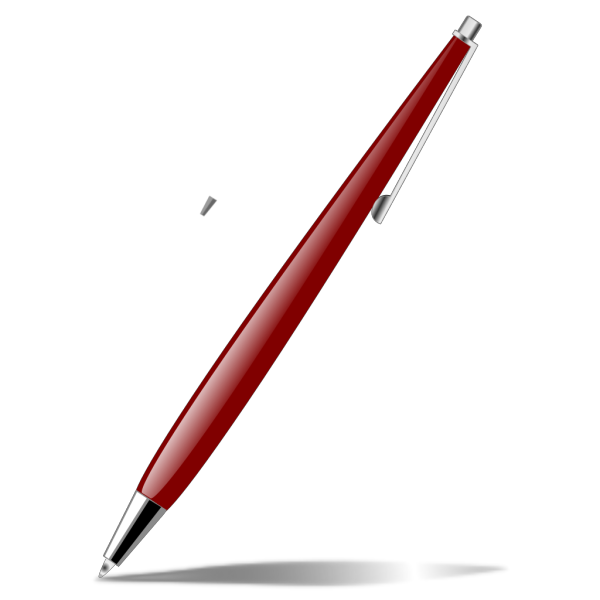 Red Glossy Pen PNG Clip art