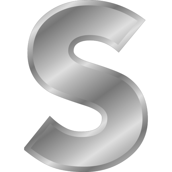 Effect Letters Alphabet Silver PNG images