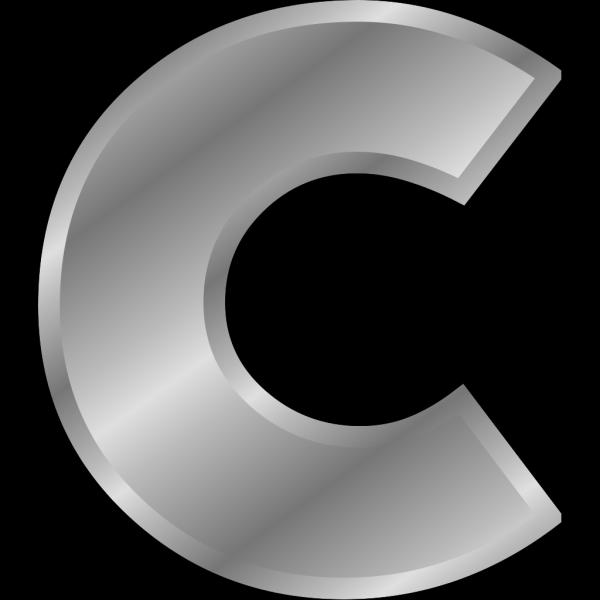 Effect Letters Alphabet Silver C PNG Clip art